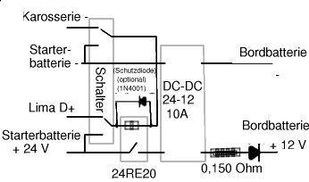 lademoeglichkeit der zusatzbatterie durch lichtmaschine. Black Bedroom Furniture Sets. Home Design Ideas